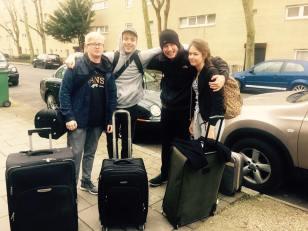 Martin, Johnny, Tom and Hannah ready to go!