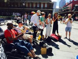 Jamming with the Jackson Square Band