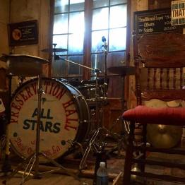 The Preservation Hall drum kit