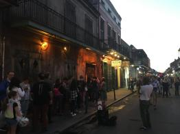 The Preservation Hall at dusk
